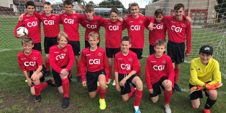 Thanks to CGI @CGI_UKNEWS for their support of the Gullane AFC U15 team